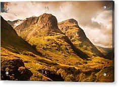 Three Sisters. Glencoe. Scotland Acrylic Print by Jenny Rainbow