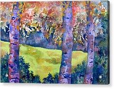 Three Trees Acrylic Print by James Huntley