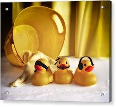 Three Wise Duckies Acrylic Print by Mark Fuller