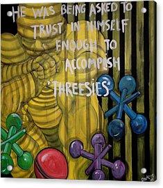 Threesies Acrylic Print by Darlene Graeser