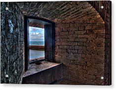 Through The Fort Window Acrylic Print by Andres Leon