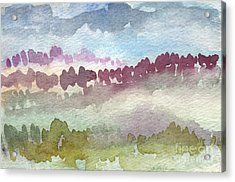 Through The Trees Acrylic Print by Linda Woods