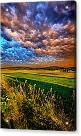 Through The Valley Acrylic Print by Phil Koch