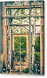 Thru Times Window Acrylic Print by Karol Livote