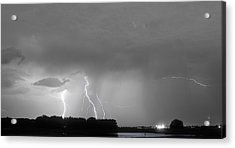 Thunder Rolls And The Lightnin Strikes Bwsc Acrylic Print by James BO  Insogna