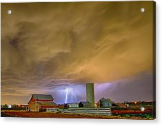 Thunderstorm Hunkering Down On The Farm Acrylic Print by James BO  Insogna
