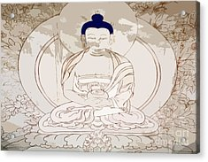 Tibet Buddha Acrylic Print by Kate McKenna
