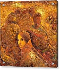 Tibet Golden Times Acrylic Print by Shijun Munns