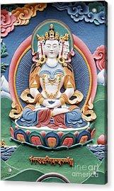 Tibetan Buddhist Temple Deity Sculpture Acrylic Print by Tim Gainey