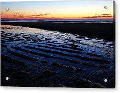 Tidal Ripples At Sunrise Acrylic Print by James Kirkikis