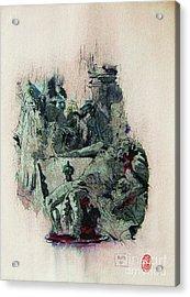 Tiepolos  Death Of Seneca Acrylic Print by Roberto Prusso