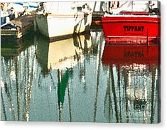 Tiffany Sailed From San Francisco To Moss Landing Acrylic Print by Artist and Photographer Laura Wrede