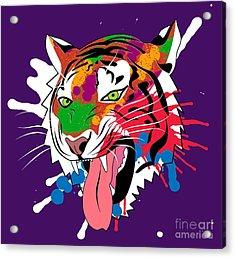 Tiger 11 Acrylic Print by Mark Ashkenazi