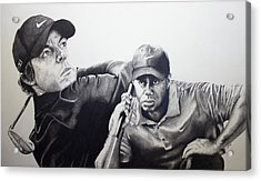Tiger And Rory Acrylic Print by Jake Stapleton