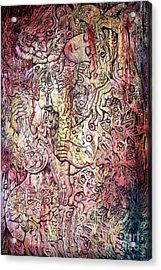 Tiger And Woman Acrylic Print by Kritsana Tasingh