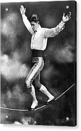 Tightrope Walker Con Colleano Acrylic Print by Underwood Archives