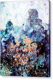 Tikal Ruins Acrylic Print by Ryan Fox