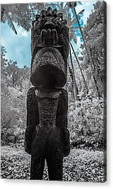 Tiki Man In Infrared Acrylic Print by Jason Chu