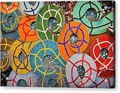 Tiled Swirls Acrylic Print by Adam Romanowicz