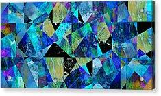 Tilt In Blue - Abstract - Art Acrylic Print by Ann Powell