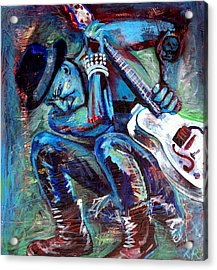 Tim Armstrong And Gretsch  Acrylic Print by Kat Richey