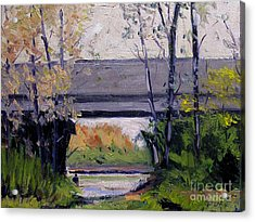 Tim Under The Bridge Acrylic Print by Charlie Spear