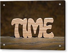 Time Acrylic Print by Donald  Erickson
