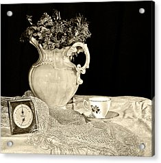 Time For Tea Acrylic Print by Camille Lopez