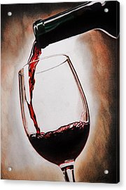 Time For Wine Acrylic Print by Brian Broadway