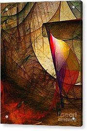 Time Fuse-abstract Art  Acrylic Print by Karin Kuhlmann