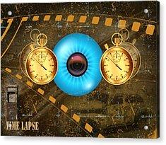 Time Lapse Acrylic Print by Diskrid Art