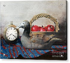 Time Passes Acrylic Print by Monte Toon
