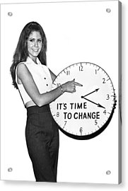 Time To Change Acrylic Print by Underwood Archives