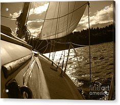 Time To Jibe  Acrylic Print by Kym Backland