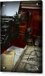 Time To Pay Your Taxes  Acrylic Print by Paul Ward