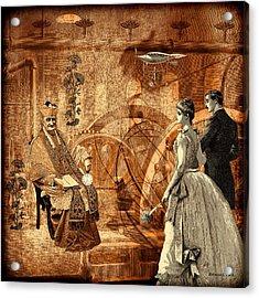 Timekeeper Steampunk Acrylic Print by Bellesouth Studio
