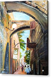 Timeless Alleys Acrylic Print by Betty M M   Wong