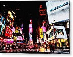 Times Square Acrylic Print by Andrew Paranavitana