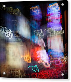 Times Square Acrylic Print by Dave Bowman