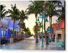 Times Square Fort Myers Beach Acrylic Print by Timothy Lowry
