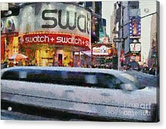 Times Square Acrylic Print by George Atsametakis