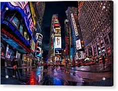Times Square New York City The City That Never Sleeps Acrylic Print by Susan Candelario