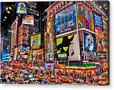 Times Square Acrylic Print by Randy Aveille