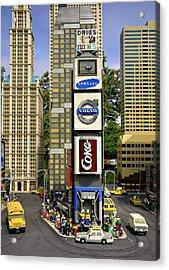 Times Square Acrylic Print by Ricky Barnard