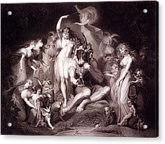 Titania, Bottom And The Fairies, Act 4 Acrylic Print by Henry Fuseli