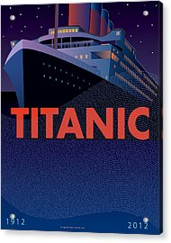 Titanic 100 Years Commemorative Acrylic Print by Leslie Alfred McGrath