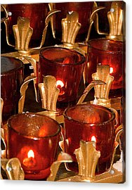 To Lite A Candle Acrylic Print by Karol Livote