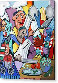 To Many Cooks In The Kitchen Acrylic Print by Anthony Falbo