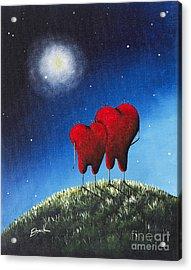 To My Beloved Heart Print By Shawna Erback Acrylic Print by Shawna Erback