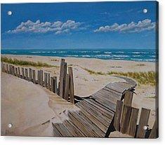 To The Beach Acrylic Print by Paul Bennett